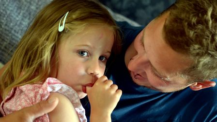 Indie-Rose Clarry, 5, has a severe form of epilepsy and parents Anthony and Tannine from Clare are c