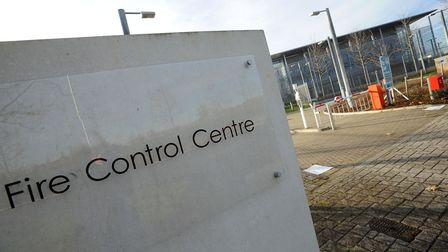 The empty Fire Control Centre at the Cambridge Research Park, Waterbeach.