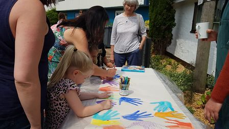 There were plenty of arts and crafts on offer for everyone Picture: RACHEL EDGE