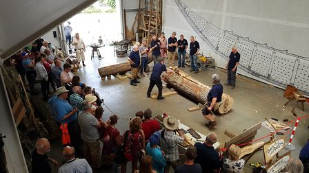 There was also a demonstration of Saxon carpentry in the Longshed Picture: RACHEL EDGE