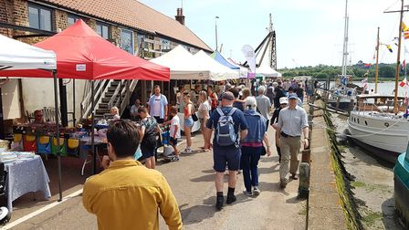 The event also included a fair by the riverside. Picture: RACHEL EDGE
