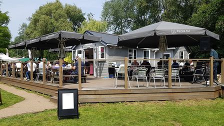 People could enjoy food and music at the Tea Hut in Woodbridge Picture: RACHEL EDGE