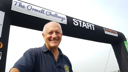 Organiser John Button at the start line of the Orwell Challenge in Suffolk. Picture: RACHEL EDGE