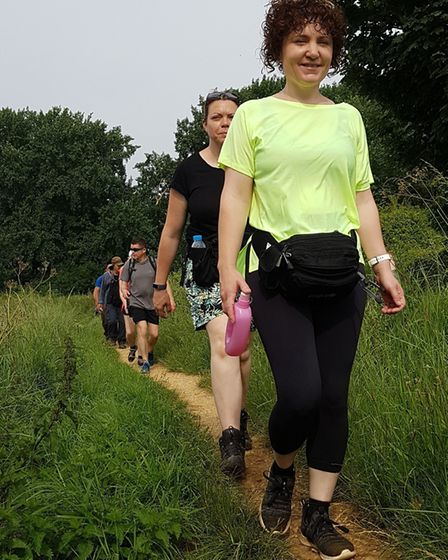People also took part in a walk at the Orwell Challengein Suffolk. Picture: RACHEL EDGE