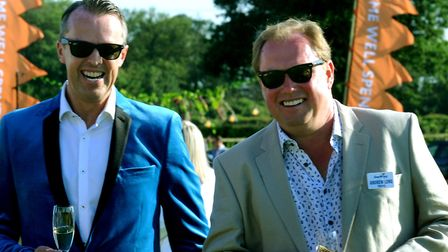 Graeme Swann and Andrew Long PICTURE: Andy Abbott