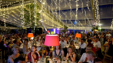 The huge marquees were decked out with thousands of lights. PICTURE: Andy Abbott