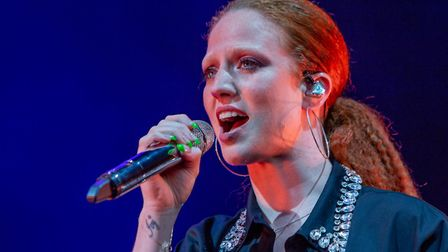Jess Glynne performing for fans at Thetford Forest on Saturday, June 22. Picture: LEE BLANCHFLOWER
