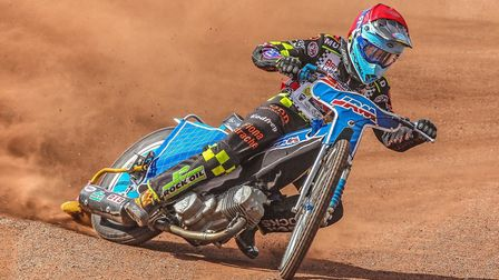 Speedway rider Sam Norris at the British Youth Championships in Glasgow Picture: TAYLOR LANNING