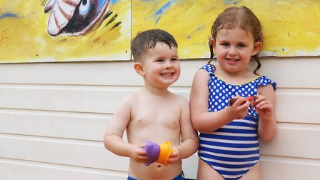 Freddie and Evelyn at Bourne park, Ipswich Picture: CHARLOTTE BOND