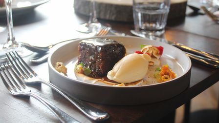 Sticky toffee pudding at The Angel, Bury St Edmunds Picture: Gough Hotels