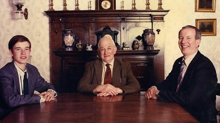 Three generations of Palmers, in 1989. From left, Kieron, Roy and Kenneth Picture: FAMILY COLLECTIO
