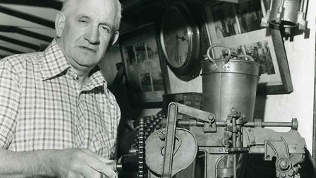Roy Palmer with some of the artefacts collected over the years Picture: FAMILY COLLECTION