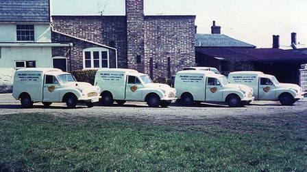 Palmers' fleet of vans in 1965 Picture: FAMILY COLLECTION