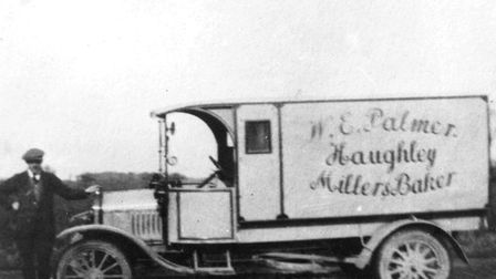 Ray Adams in 1918, with Palmers' first van Picture: FAMILY COLLECTION