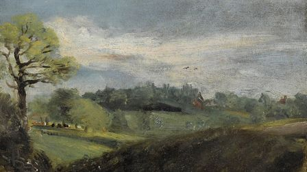 East Bergholt Common, by John Constable, which is to be sold at auction by Bonhams of London with an