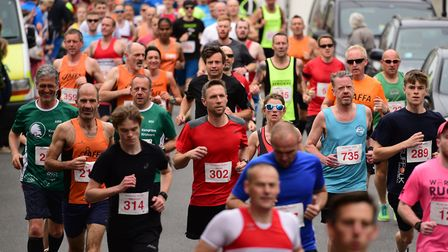 Action from last month's Woodbridge 10K. Runners from across the region have been joining the new 'R