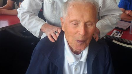 Bomber pilot Dick Nelms will return to Suffolk Picture: 447th BOMB GROUP
