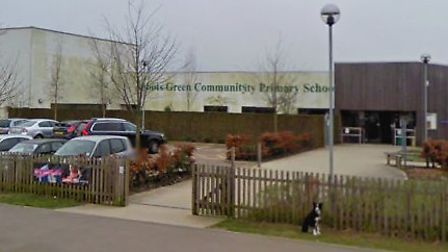 Abbots Green Academy in Bury St Edmunds was closed on Monday after part of the ceiling collapsed Pic