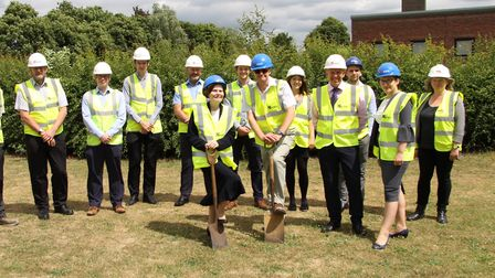 Vicky Neale at Westley school playing fields in Bury St Edmunds where the new County STEM academy wa