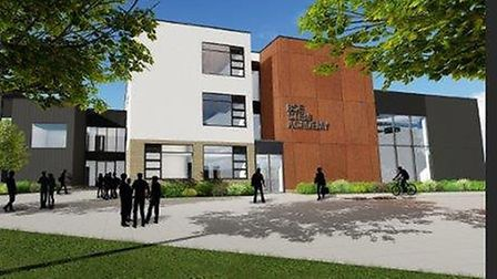 Artist's impression of the County STEM school. The project has been axed by the Government Picture: