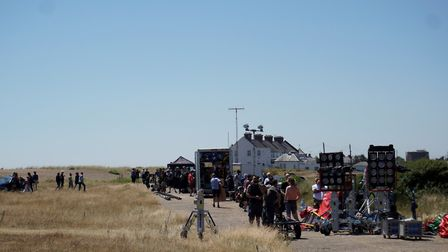 Shingle Street filming for Yesterday. Picture: SCREEN SUFFOLK