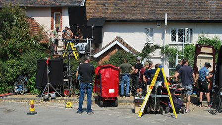 Filming in Dunwich for the new Danny Boyle and Richard Curtis film Yesterday. Picture: SCREEN SUFFOL