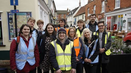 Suffolk location marshals who gained work experience on the film Yesterday. Picture: SCREEN SUFFOLK