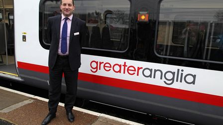 Greater Anglia managing director Jamie Burles Picture: GREATER ANGLIA
