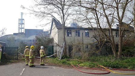 Earlier this year fire fighters attended another blaze in old cottages on the site Picture: RACHEL