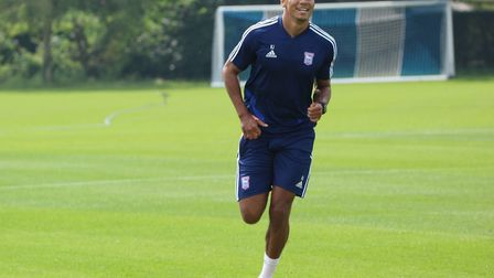 Kayden Jackson was the only fit specialist striker to take part in pre-season training today. Photo: