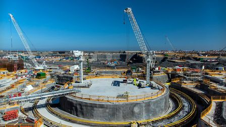 The 'Nuclear Island' at Hinkley Point C, a power plant under construction in Somerset Picture: EDF E