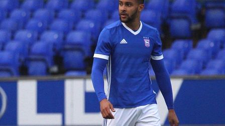 Dennon Lewis, pictured during his trial game for Ipswich Town. Picture: ROSS HALLS