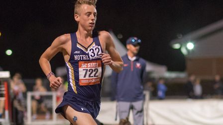 Suffolk athlete Bradley Wattleworth, in action on the track in America. He won the recent San Diego