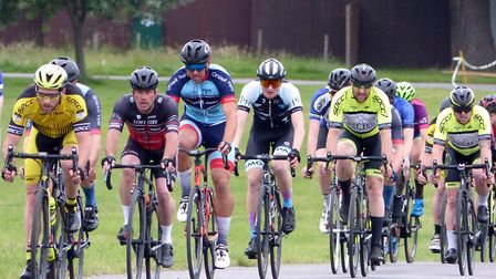 Stowmarket, Fast Test, Orwell Velo and Iceni Velo riders in action at Trinity Park. Picture: FERGUS