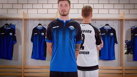 Paderborn have released their kits for next season. Picture: SC PADERBORN