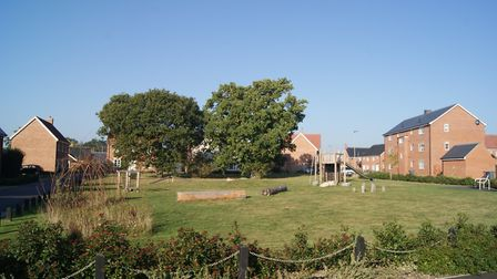 Hopkins Homes said a mistake resulted in a planned children's play-area not being included in detail