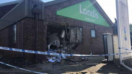 Serious damage was caused to the Londis garage at Lady Lane Hadleigh when it was ram raided in the e