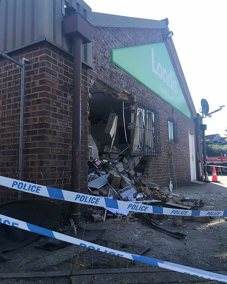 The Londis garage at Lady Lane Hadleigh was ram raided in the early hours of Friday, July 5. Picture