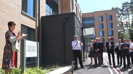 Jo Churchill MP officially opening the new accommodation blocks at the West Suffolk Hospital Picture