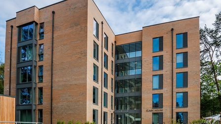 One of the new £12m accommodation blocks at West Suffolk Hospital Picture: WSFT