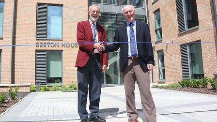 Nigel Beeton, imaging services manager, and Dr John Clark, clinical lead in diabetes and endocrinolo