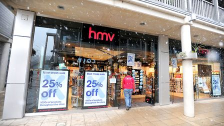 The HMV store in Bury St Edmunds could close by the end of next month Picture: ARCHANT