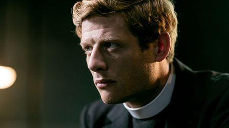 James Norton as Sidney Chambers in the TV version of Grantchester. Author James Runcie is speaking a