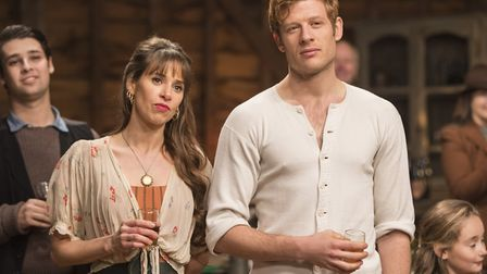 James Norton as Sidney Chambers and Candis Nergaard as Freda in Grantchester. Photo: ITV