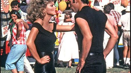 Olivia Newton John as Sandy and John Travolta as Danny in the classic musical Grease. Photo: Paramou