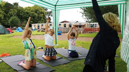 Melton pupils get to grips with yoga Picture: RACHEL EDGE