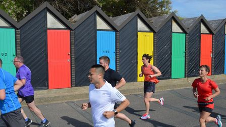 Runners tackling the Lowestoft parkrun, who may enjoy cooler temperatures by the coast on Saturday P