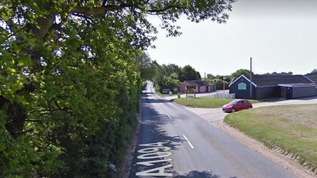 The crash happened near Friday Street cafe on the A1094 near the A12 at Saxmundham Picture: GOOGLE M
