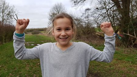 Amelie is aiming to run/walk 500 miles in 2019. Picture: RACHEL EDGE