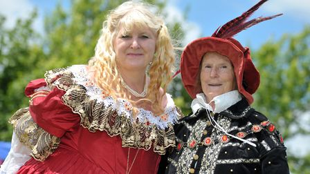 Karen Cronk and Pauline Ellis in their finery Picture: SARAH LUCY BROWN